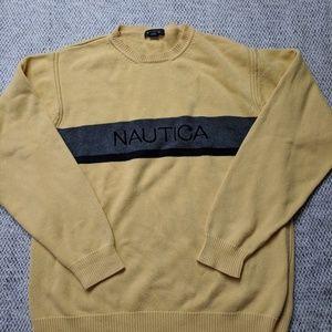 SALE Nautica Spellout Pullover Crewneck Sweater